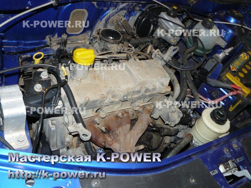 устройство двигателя renault logan 8 кл